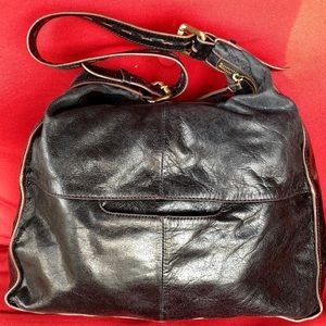 Black Leather Hobo Original Handbag